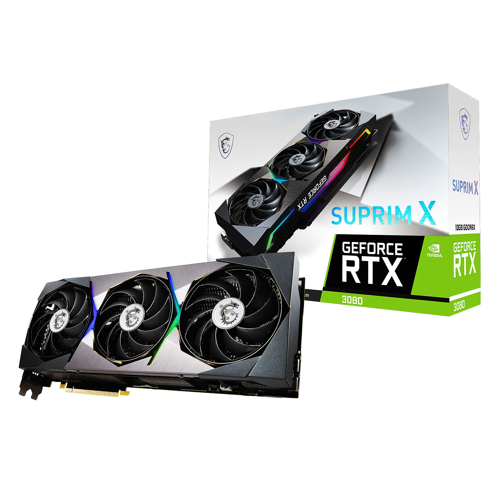 GeForce RTX 3080 SUPRIM X - Triple Fan - 10Go