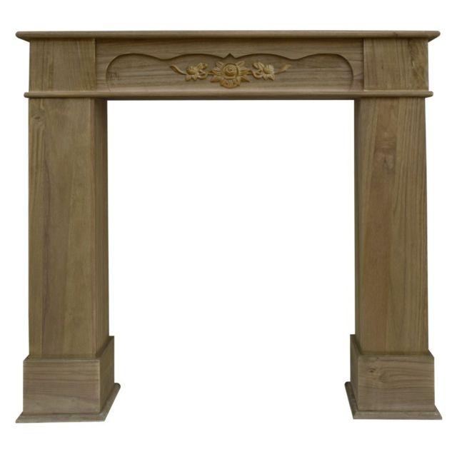 mobili rebecca cadre decoratif habillage de chemineee bois brun style classique salon pas. Black Bedroom Furniture Sets. Home Design Ideas