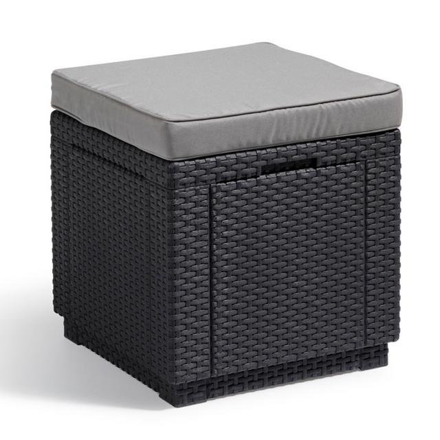 Allibert Pouf de rangement Cube Graphite