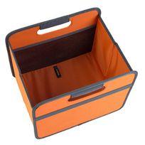 Meori - Boîte De Rangement Pliable 15 Litres 1 Compartiment - Orange Mandarine