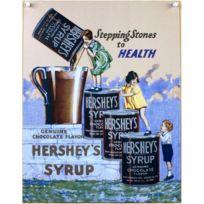 Universel - Plaque chocolat hershey s escalier enfants tole pub affiche
