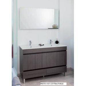 aqua meuble salle de bain blanc poser 120cm portes tiroirs livr mont lancelo pas. Black Bedroom Furniture Sets. Home Design Ideas