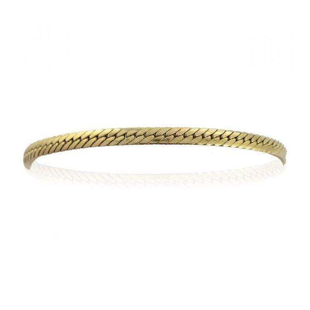 bracelet femme or maille anglaise