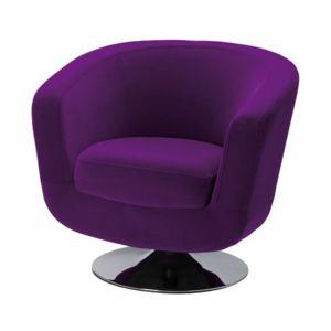 fauteuil de bar velours violet pas cher achat vente rueducommerce. Black Bedroom Furniture Sets. Home Design Ideas