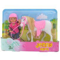 Jenny - Laura et son poney blanc
