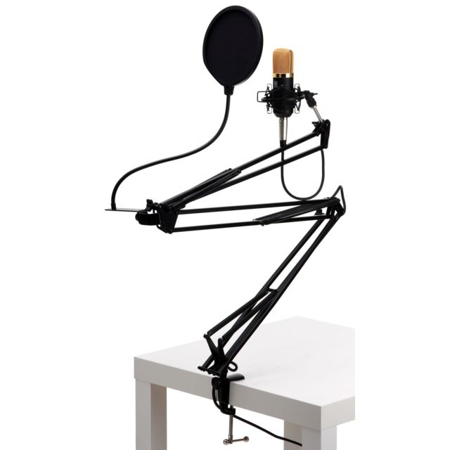 Pronomic - Cm-22 Radioshow Bundle incl. filtre anti-pop noir & bras micro