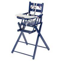 Combelle - Chaise Haute Extra-Pliante Sarah - Laqué bleu