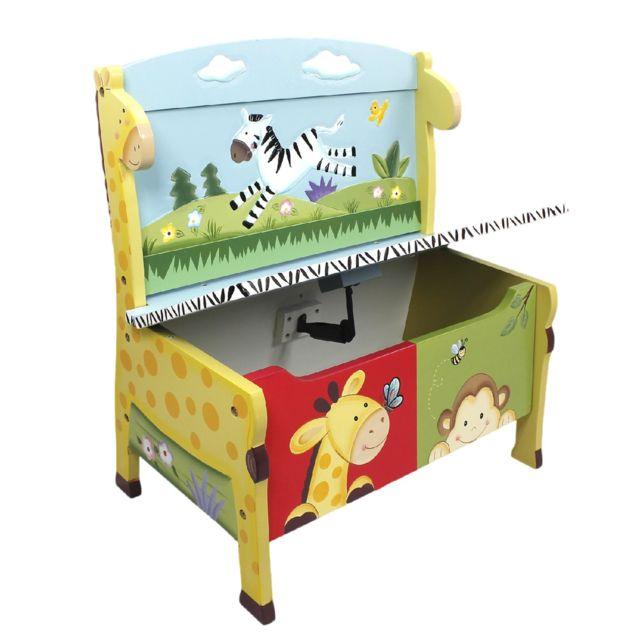 FANTASY FIELDS - Banc de rangement meuble en bois boîte coffre à ...