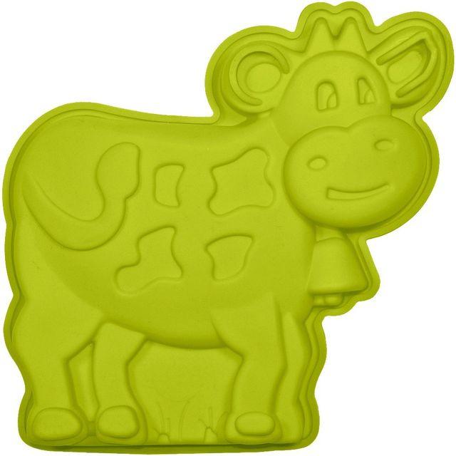 Promobo Moule à Gateau en silicone Vache Forme Ludique Animal Vert