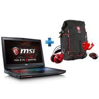 MSI - GT72VR 6RE-273XFR Dominator Pro - Noir + Pack GT : Sac à dos + Porte-clé Dragon + Souris + Casque