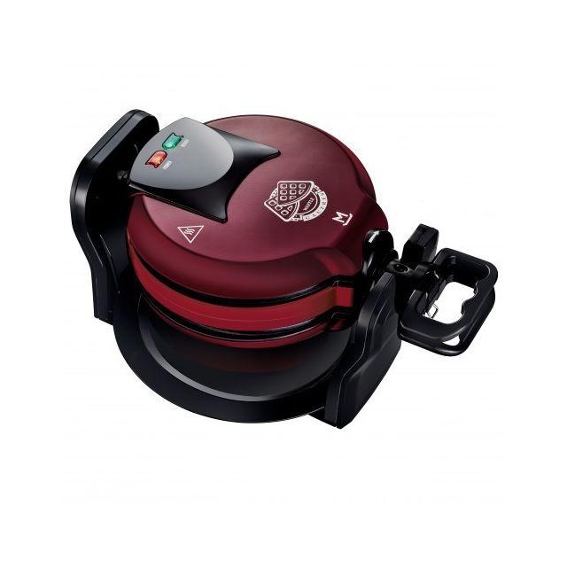 MANDINE Gaufrier rotatif - MRWM1300-17 - Bordeaux/Noir