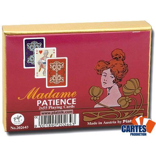 Poker Production - Madame Patience : 2 Jeux de cartes