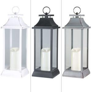 table passion lanterne h50cm couleurs assorties avec bougie led blanche pas cher achat. Black Bedroom Furniture Sets. Home Design Ideas