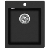 Vidaxl - Évier de cuisine encastrable à 1 bac en granite noir