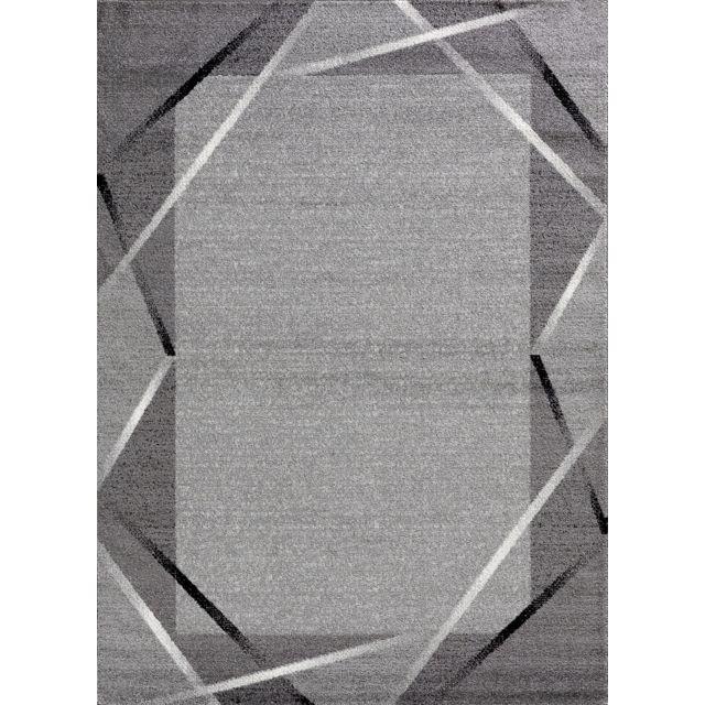 Tapis de couloir Santana gris, noir, blanc 80x250cm