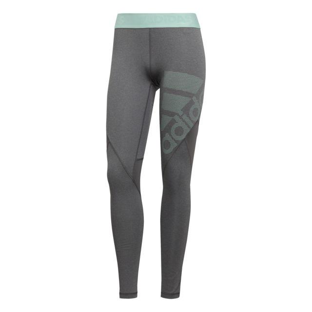 Femme Legging Alphaskin Sport Long Gris Foncégrisvert Adidas w8P0knXO