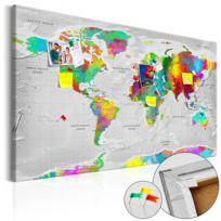 Bimago - Tableau en liège - Maps: Colourful Finesse Cork Map