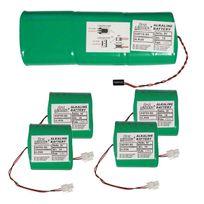 FIRST INNOV - batteries d'origine 1x9v et 4x3v 18a/h pour alarme primaprotect - dsp80-s6