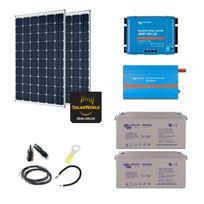 Myshop-solaire - Kit solaire 600w premium autonome + convertisseur 230v/1200va
