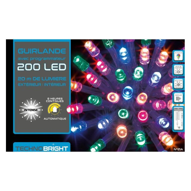 Guirlande led multicolore