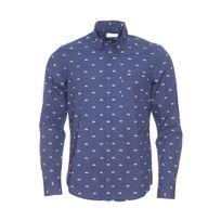 Harris Wilson - Chemise ajustée Osvaldo en coton bleu marine à motifs vélos bleu clair