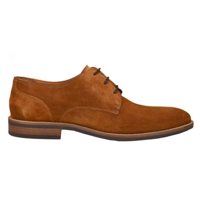 1312148de819 Tommy Hilfiger - Chaussures habillées en daim Daytona cognac pour homme  Marron - pas cher Achat   Vente Boots homme - RueDuCommerce