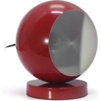 Privatefloor - Lampe de Chevet Boule Rouge
