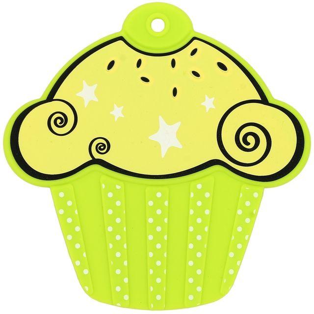 Promobo Dessous de plat Gourmand Forme Cupcakes en Silicone Vert