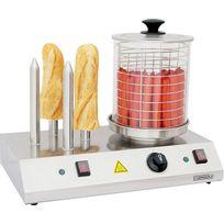 Casselin - appareil à hot-dog électrique 4 plots 960w - cmh1
