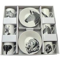 Aulica - Set de 6 tasses à café Africa