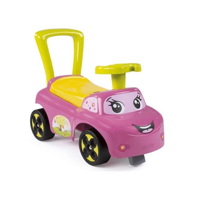 SMOBY - Porteur bébé Auto Rose - pas cher Achat   Vente Chevaux à bascule,  porteurs - RueDuCommerce 53e55f4589f