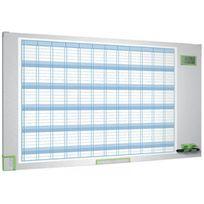 Nobo - Tableau blanc planning - 103x60 cm - annuel - magnétique