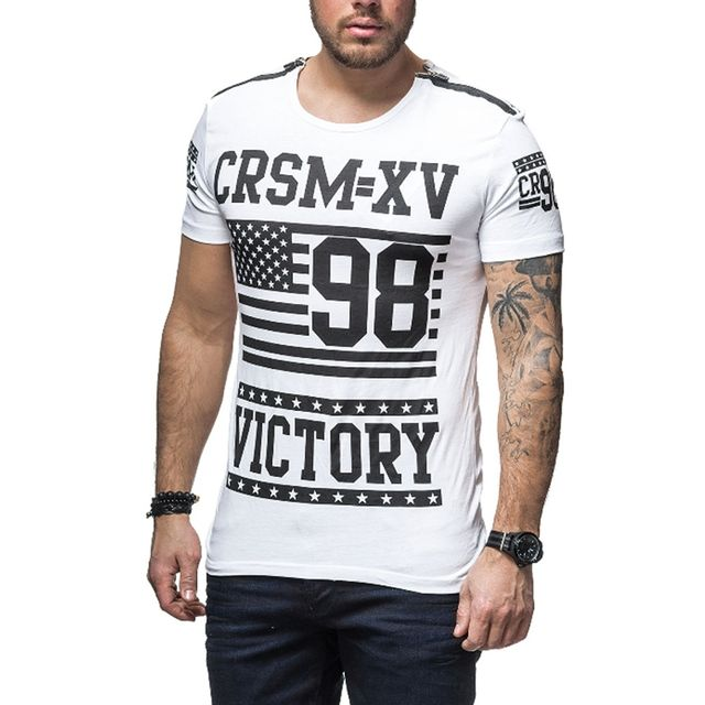 carisma tee shirt fashion homme tee shirt crsm4233 blanc pas cher achat vente tee shirt. Black Bedroom Furniture Sets. Home Design Ideas