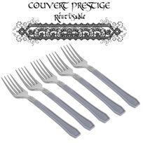 Vaisselle-jetable - 20 fourchettes prestige jetables plastique gris