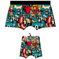 Marvel Comics - Marvel Boxer Homme Coton Captain America Bd Multicolore