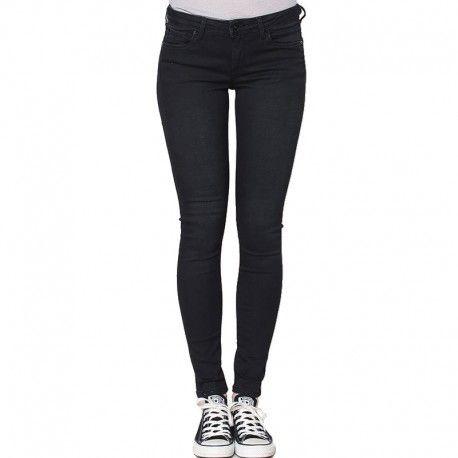 989d5972351f Pepe Jeans - Soho Blk Dnm - Jean Slim Femme Pépé Jeans Noir - pas ...