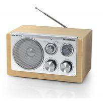 AUDIOSONIC - Radio Rétro Bois Hêtre AM/FM Auxiliaire RD-1540