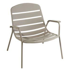 hyba optimistic fauteuil bas acier151 taupe lcaf4982 pas cher achat vente fauteuil de. Black Bedroom Furniture Sets. Home Design Ideas