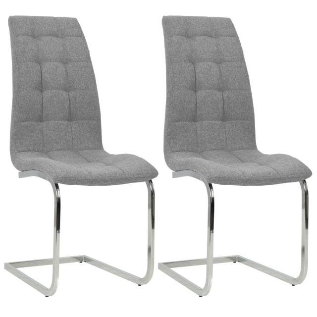chaise salle a manger tissu gris paiement 4 fois