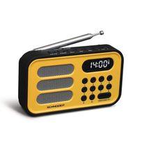 Schneider - Sc150ACLYEL Radio Portable Handy Mini - Jaune