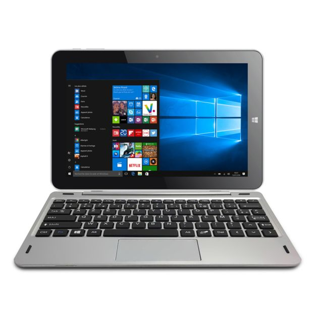 THOMSON 10,1'' Tactile 2 en 1 - Intel Atom x5-Z8300 - eMMC 32 Go - RAM 2 Go - Intel HD Graphics - Windows 10 - Office Mobile inc