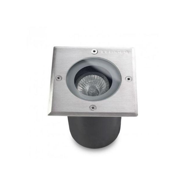 Leds C4   Spot Encastrable Extérieur Carré Gea Ip67   Inox