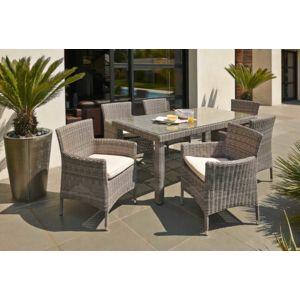 Dcb garden ensemble salon de jardin elegance en r sine - Salon de jardin en resine tressee avec table ronde ...