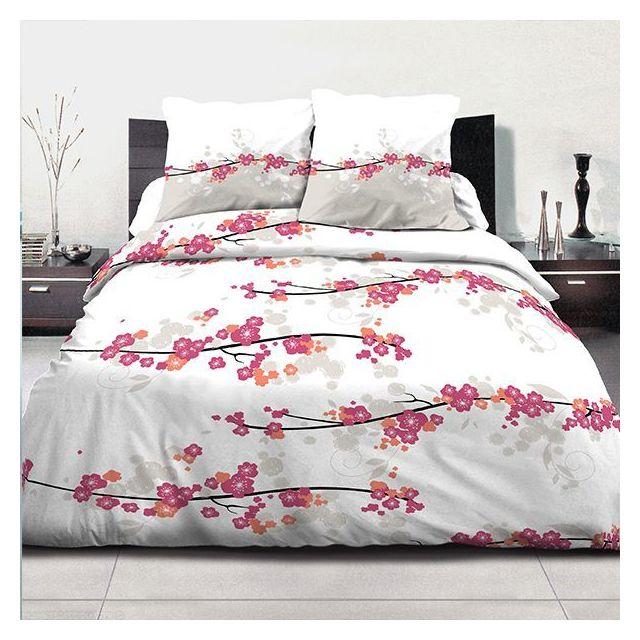 sans marque parure de couette coton 240x260 cm miss fleurs nc 260cm x 240cm pas cher achat. Black Bedroom Furniture Sets. Home Design Ideas