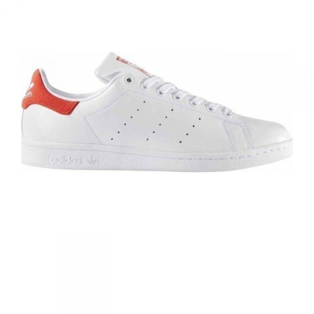 stan smith femme blanche et rouge Adidas original chaussures