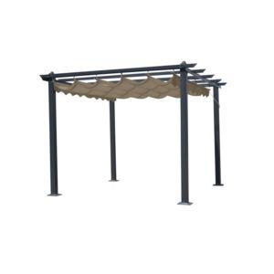 r sidence tonnelle autoport e aluminium toit r tractable 3x4m opera pas cher achat vente. Black Bedroom Furniture Sets. Home Design Ideas