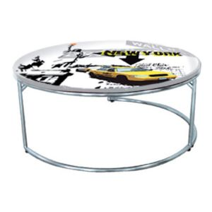 chloe design table basse decor new york new york 79cm x 33cm x 79cm pas cher achat vente. Black Bedroom Furniture Sets. Home Design Ideas