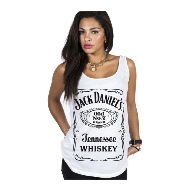 ae02a86ad717a Magiccustom - Jack Daniel S - Debardeur Femme Original Logo - pas ...