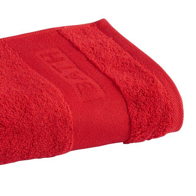 tex home serviette de toilette bath en coton rouge pas cher achat vente serviettes de bain. Black Bedroom Furniture Sets. Home Design Ideas