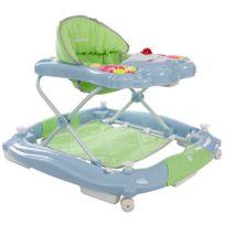 Sun Baby - Trotteur youpala balancelle interactive bébé 6-12 mois Petit Ours | Pastel, Vert et Bleu